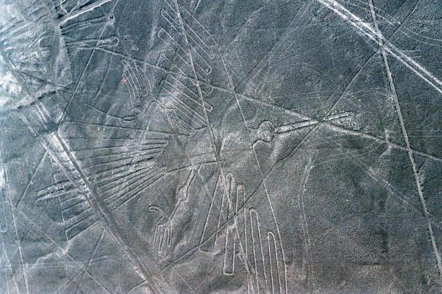 Desierto de Nazca. Perú. A vista de pájaro.